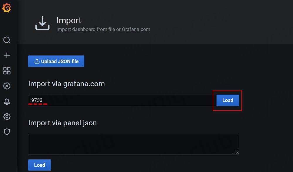 引入对应 ID 的监控看板配置界面